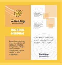 pizza company brochure title page design company vector image