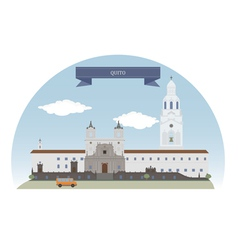 Quito vector image