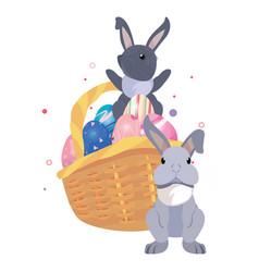 rabbit happy easter vector image