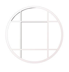 Round window isolated on white background vector