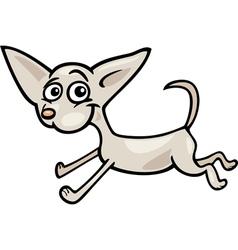 running chihuahua cartoon vector image
