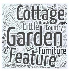 Rustic garden furniture Word Cloud Concept vector
