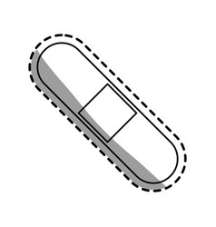 Single bandage icon image vector