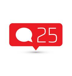 Social media icon comments comment button symbol vector