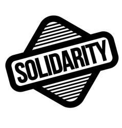 Solidarity black stamp vector
