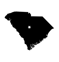 south carolina sc state map usa with capital city vector image