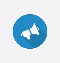 Speaker Flat Blue Simple Icon with long shadow vector