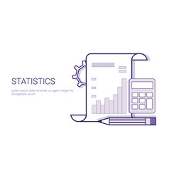 statistics analysis results document concept vector image