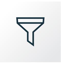 Strainer outline symbol premium quality isolated vector