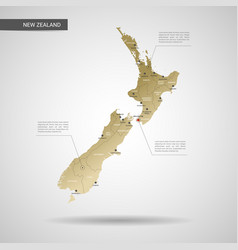 stylized new zealand map vector image