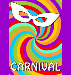 swirly colorful carnival background in vivid vector image
