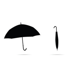 umbrella in black on white background vector image