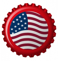 Us bottle cap vector