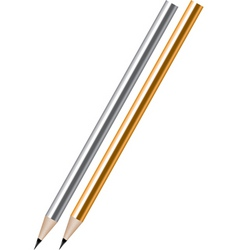 vector silver and golden lead pencils vector image