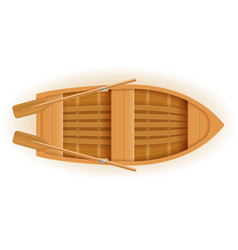 wooden boat top view vector image