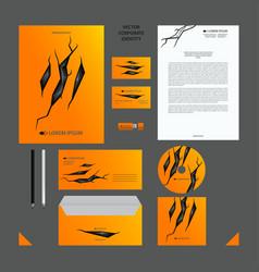 yellow corporate identity set vector image