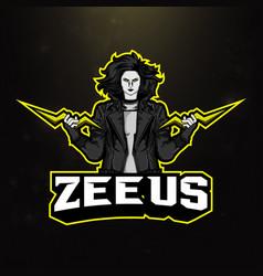 Zeus sport mascot logo vector
