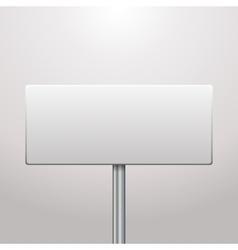 Blank signboard vector image