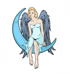blonde angel vector image vector image