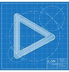blueprint icon vector image