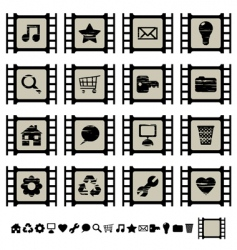 film cell icons vector image