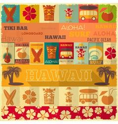 Hawaii Surf Retro Card vector image vector image
