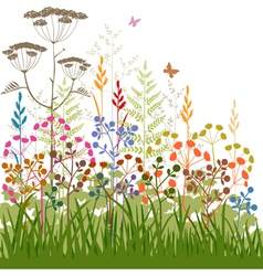 plants and grasses vector image vector image