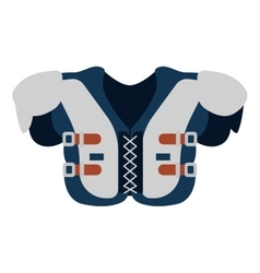 Protection uniform body football american vector