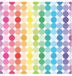rainbow dots wallpaper vector image