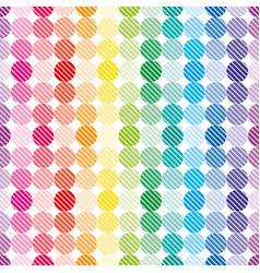 rainbow dots wallpaper vector image vector image