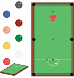 snooker set vector image