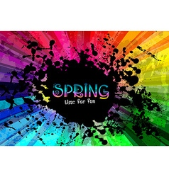 Spring Colorful Explosion of colors background for vector image vector image