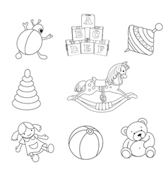 Toys Set vector image vector image