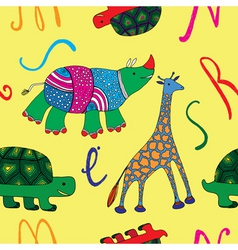animals and alphabets vector image vector image