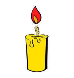 candle icon icon cartoon vector image