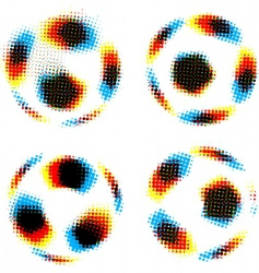 football soccer balls vector image vector image