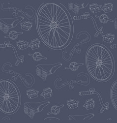 hand drawn bicycle seamless pattern vector image vector image
