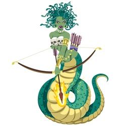 Medusa on White vector image vector image