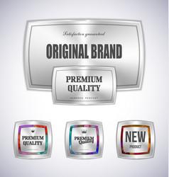 set mosaic metal label shopping vector image vector image