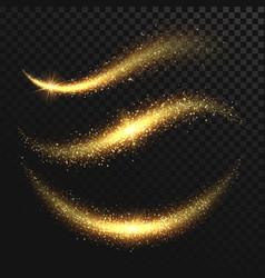 sparkle stardust golden glittering magic vector image vector image