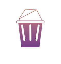 trash and envelope icon vector image