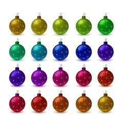 Christmas colorful balls vector image