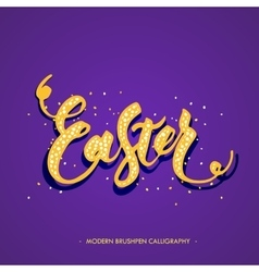 Easter lettering card vector image