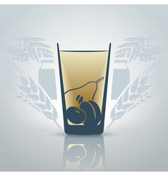 Glassofjuice vector image