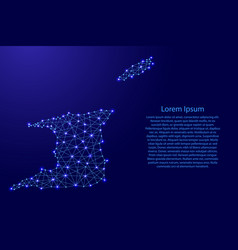 map of trinidad and tobago from polygonal blue vector image