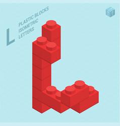 plastic blocs letter l vector image vector image