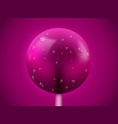 realistic lollipop candy background sweets and vector image