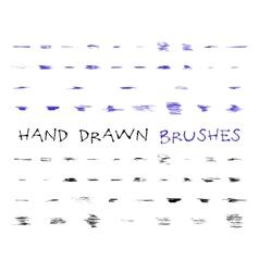 Set of hand drawndoodle sketched grunge brushes vector image vector image