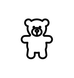 teddy bear plush thin line icon outline symbol vector image vector image