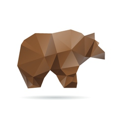 Abstract bear isolated on a white background vector image vector image